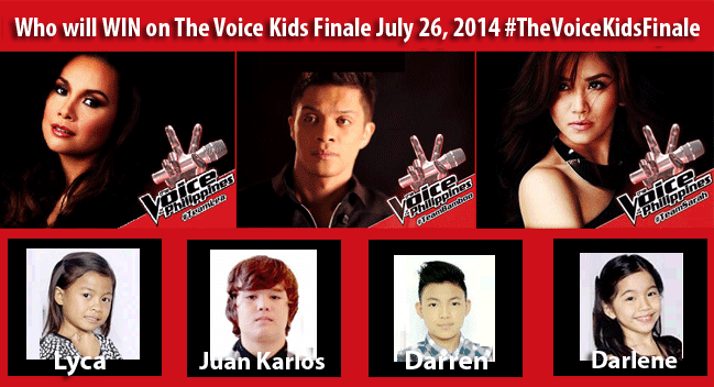 Summary of The Voice Kids Finale July 26, 2014 with hashtag #TheVoiceKidsFinale