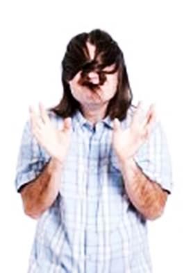Gambar pria berambut gondrong