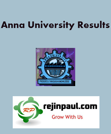 Anna University First Semester Results