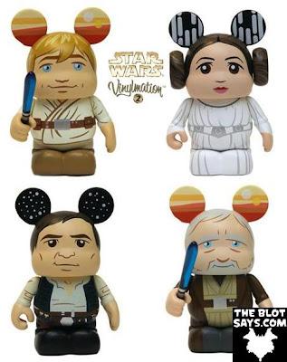 Star Wars Vinylmation Series 2 - Luke Skywalker, Princess Leia, Han Solo & Obi Wan Kenobi