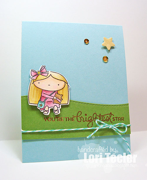 You're the Brightest Star card-designed by Lori Tecler/Inking Aloud-stamps and dies from Mama Elephant