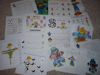 scarecrow worksheets