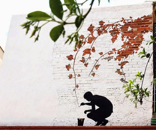 The Best Examples Of Street Art In 2012 And 2013 - By Pejac, Spain