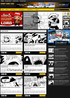 Template Blogger Johny Sakit Gigi Komik/Manga