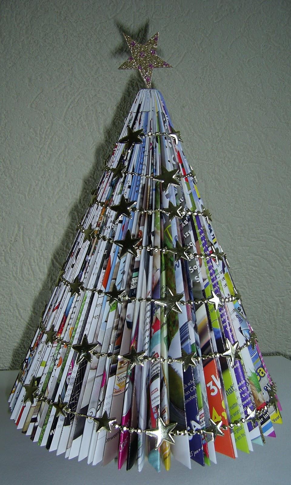 Crea Club De Meerpaal Kerstboom Van Tijdschriften