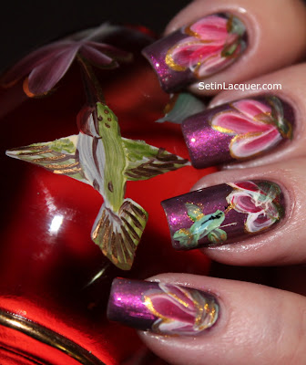 Hummingbird nail art