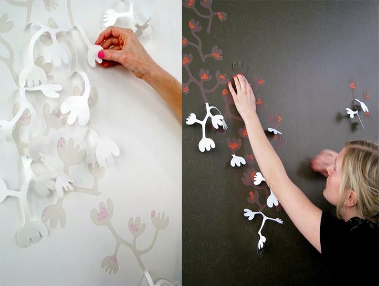 Декор стен своими руками с пошаговым фото