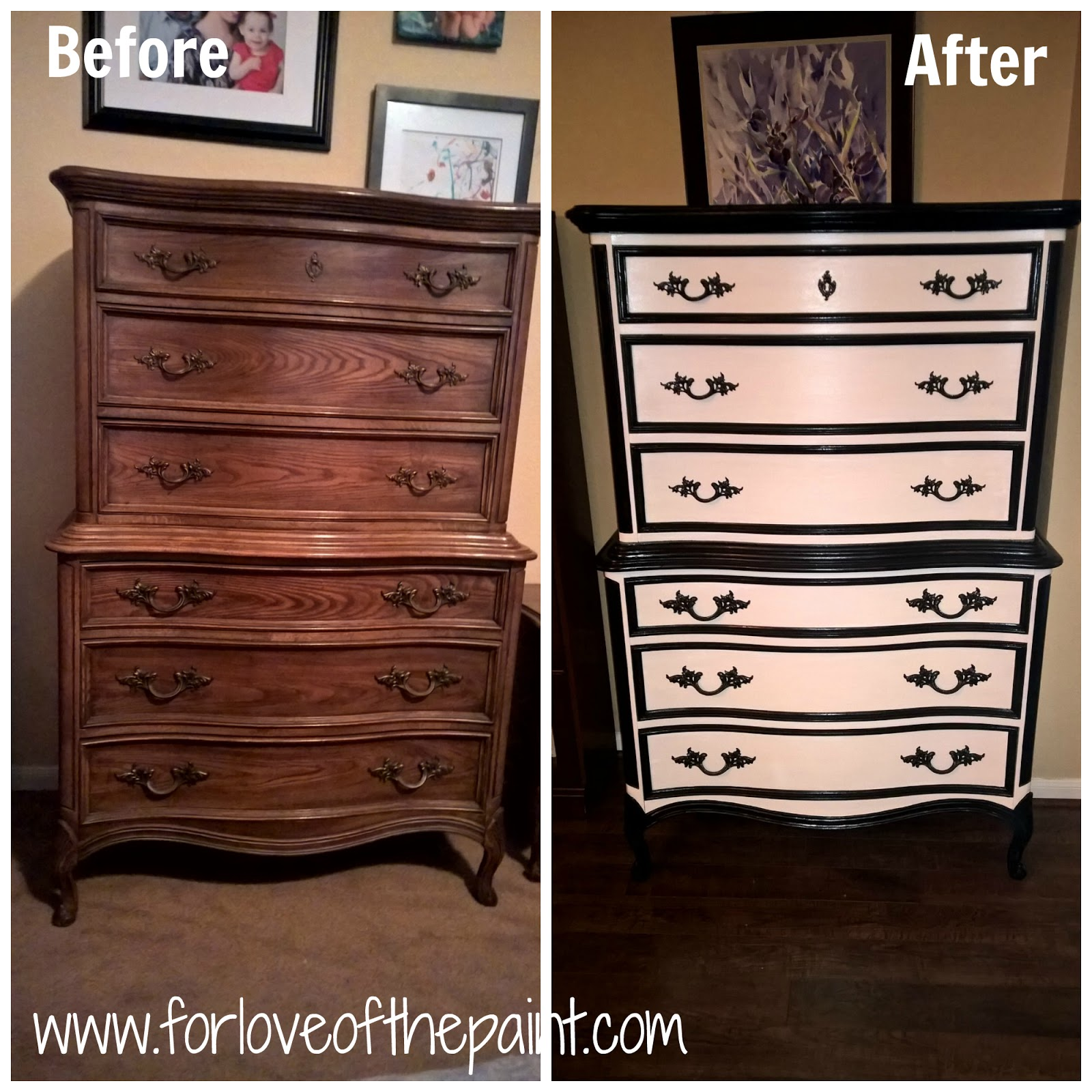 Painting Bedroom Furniture Before And After For Love Of The Paint Before And After Black And White French
