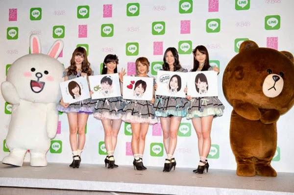 Las primeras 16 integrantes de la Elección Senbatsu de AKB48 tendrán sus stickers en LINE 01