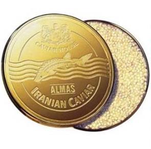 Almas iranian caviar for expensive luxury christmas dinner xmas