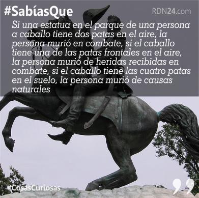 #SabíasQue Si una estatua en el parque de una persona a caballo …