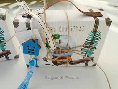 Christmas suitcase favor box