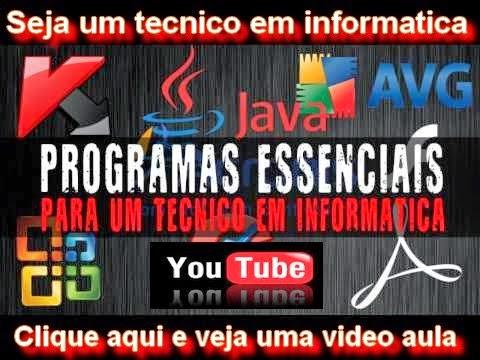 Programas para tecnico em informatica