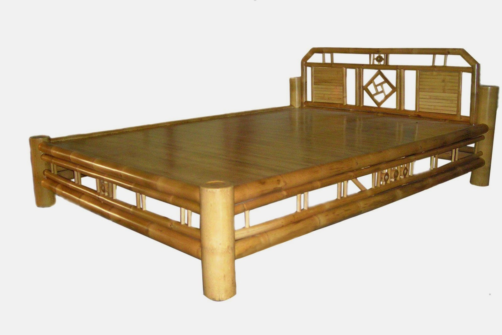 quality bamboo and asian thatch: 4 poster bed/canopy bed-bamboo