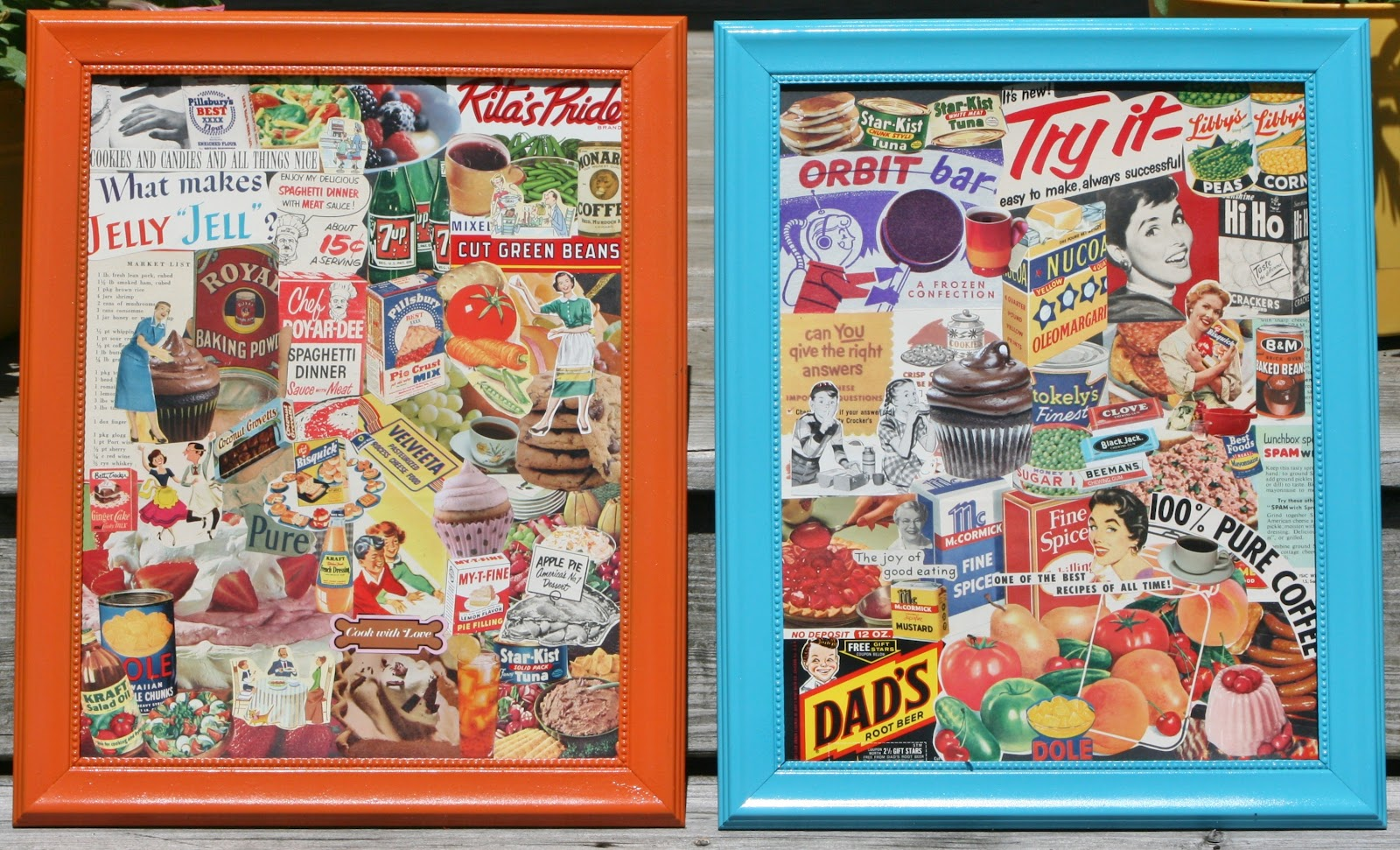 kitchen decorations can be created by me. I like funky, retro, vintage