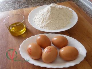 Ingredientes para la Pasta fresca casera.