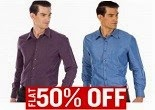 Buy Provogue Men Shirts From Officail Store at Flat 50% OFF