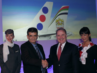 James Hogan, Etihad Airways CEO with Velibor Vukasinovic, JatAirways CEO
