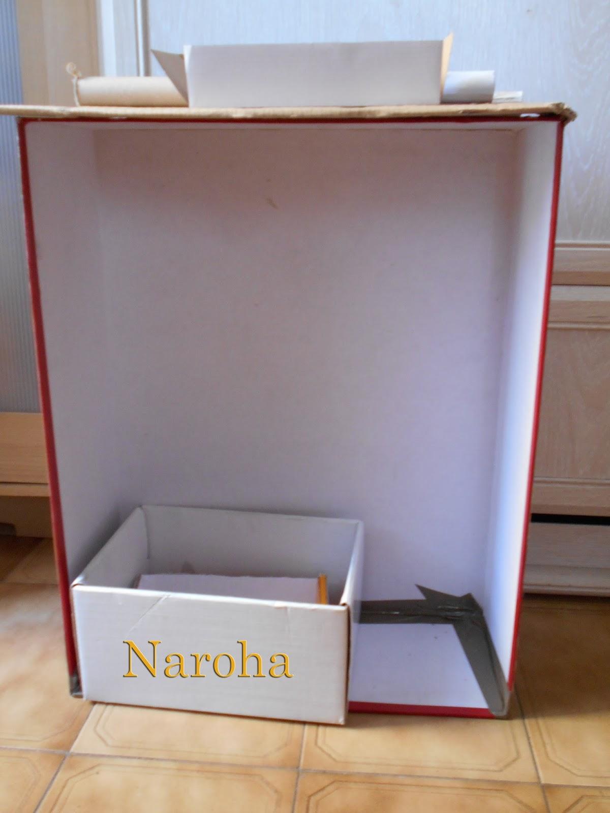 Naroha c mo hacer un mueble de cart n con cajones for Que es un canape mueble