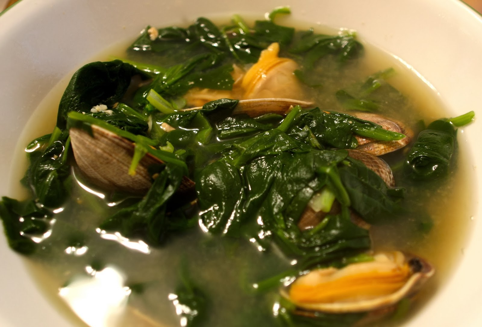Korean Spinach Soup Korean Spinach Soup With Clams