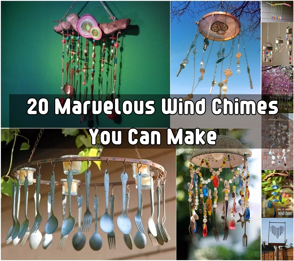 20 brilliant marvelous diy wind chimes diy craft projects for Wind chime craft projects