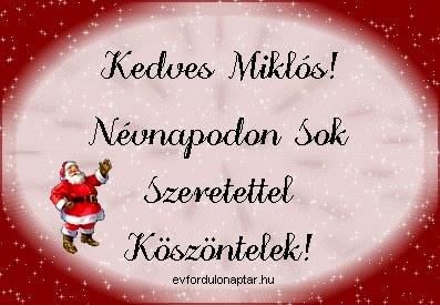 December 6 - Miklós névnap
