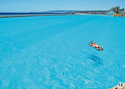 bassein 0005 أكبر و أنقى حمام سباحة في العالم بتكليف خمسة بلاين جنية استرليني  في تشيلي