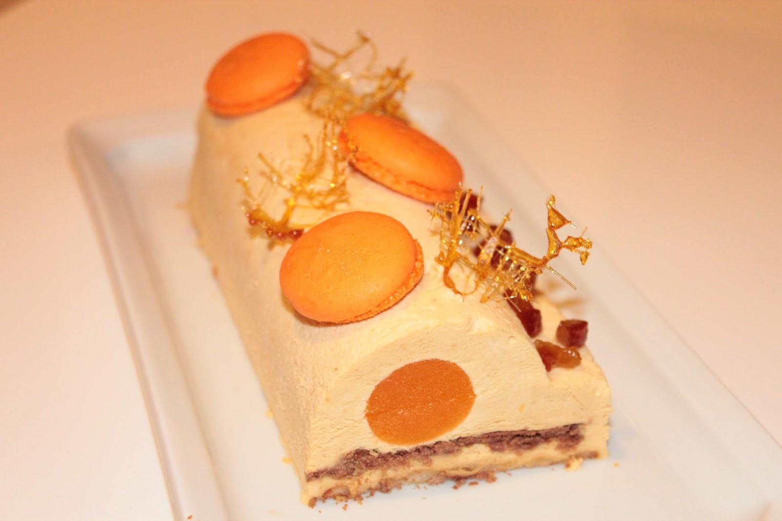 Buche de noel mandarine chocolat blanc
