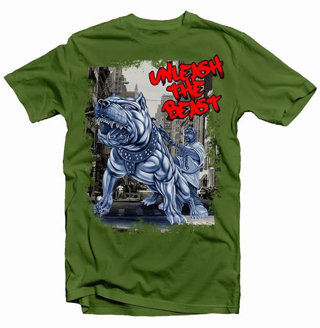 Tshirt design dog pitbull