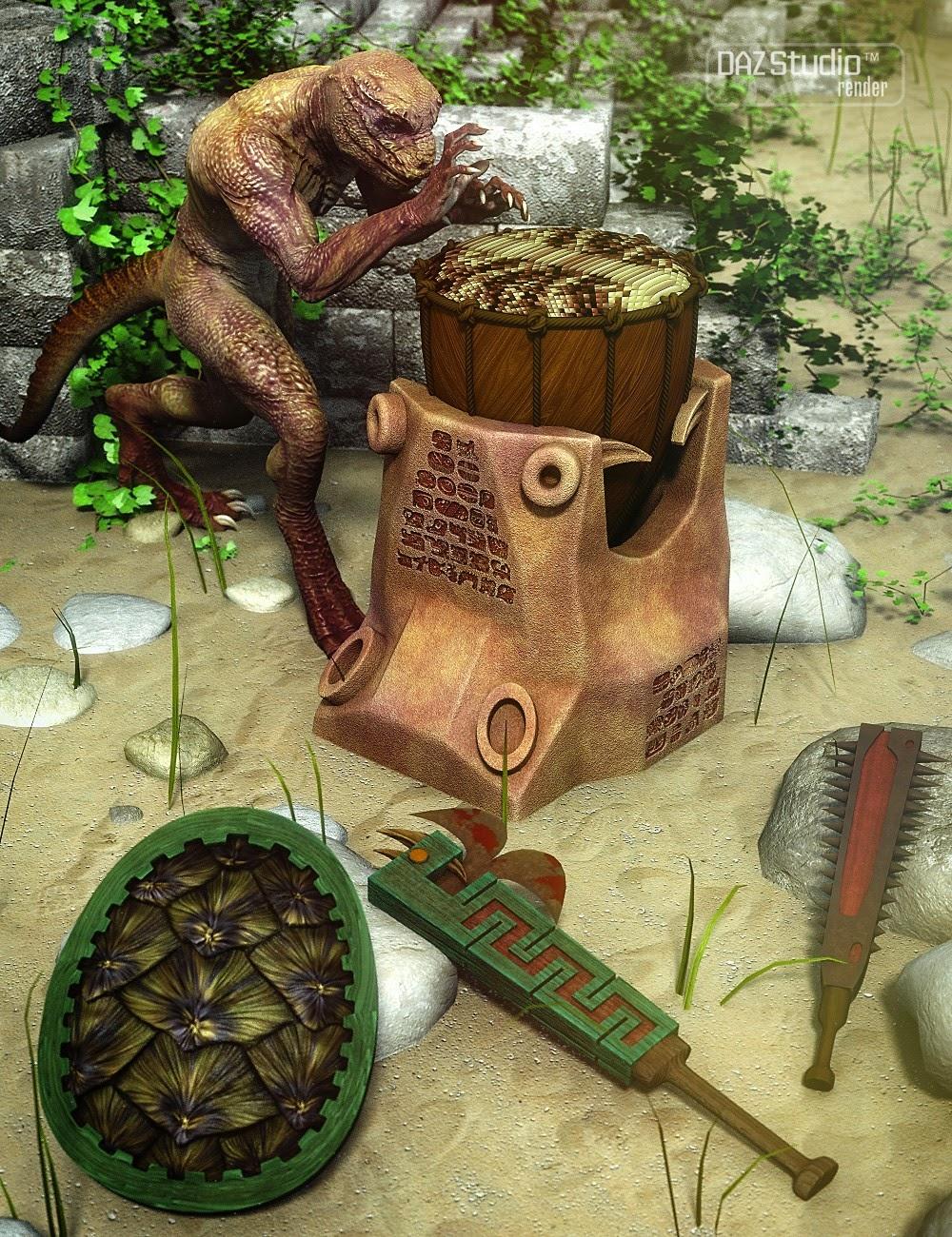 Lizard Tribe Props