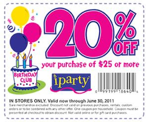 iparty coupon