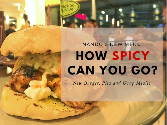 Nando's New Menu - Burgers Pita and Wrap Meals