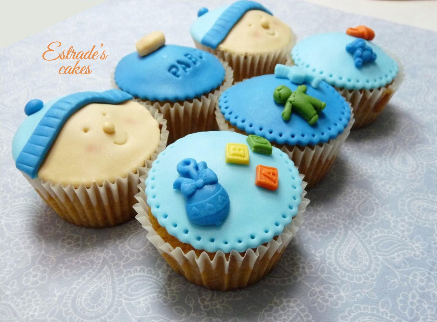 cupcakes para bebé con fondant 2 - 3