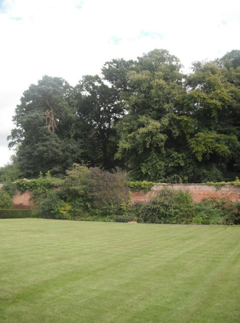 a walled garden in northumberland