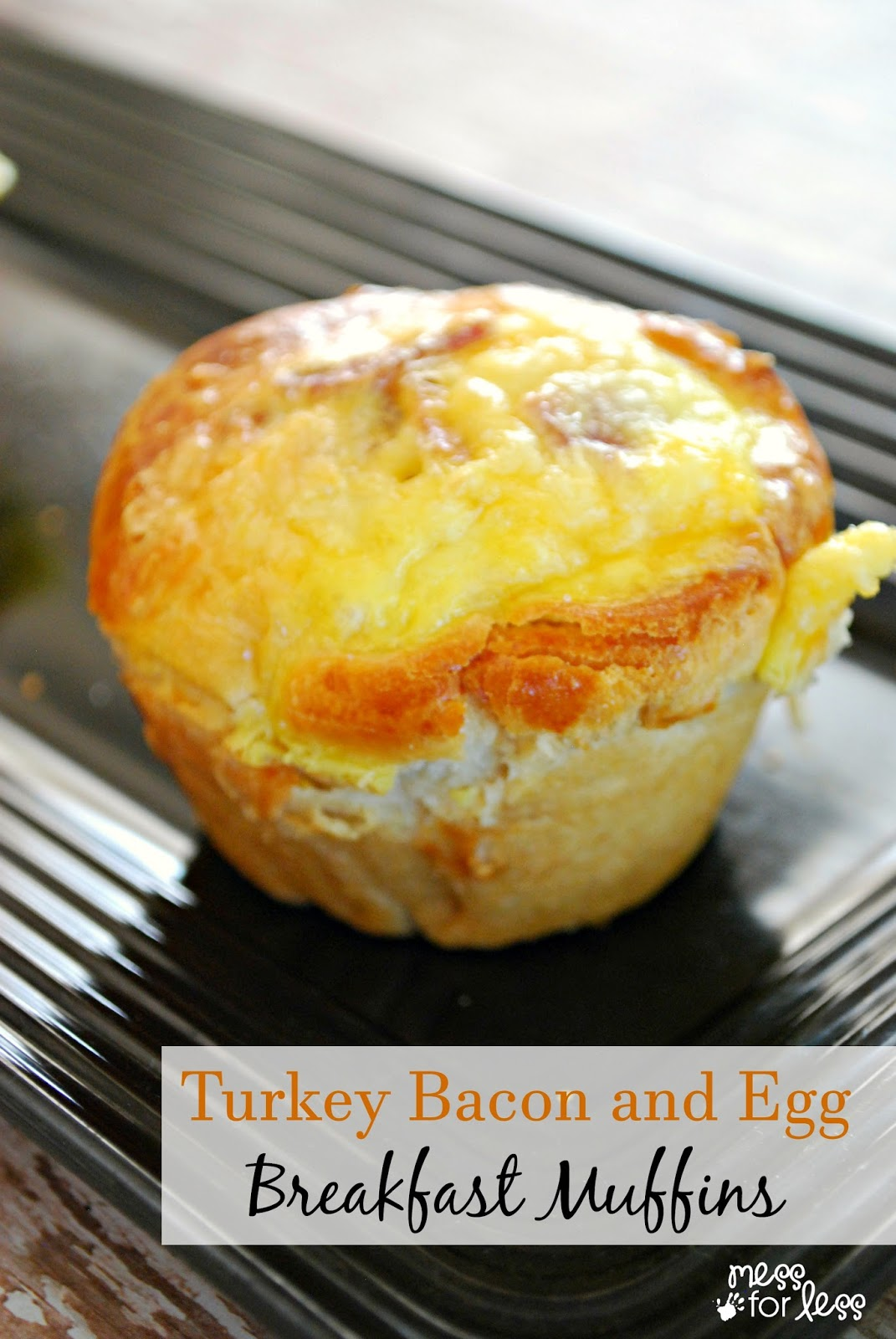 Turkey Bacon and Egg Breakfast Muffins made with Butterball Turkey Bacon - I love how these are portion controlled and they remind me of a classic all-American breakfast. #sponsored