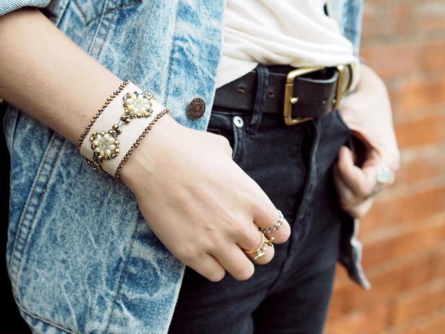 Fashion and Style Blogger Wonderful You Wears Azuni London Bracelet