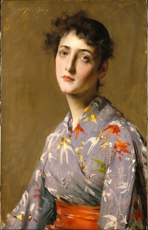 Girl in a Japanese Costume → William Merritt Chase - USA