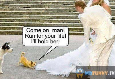 Come On Man Run For Your Life I will Hold Her Hand
