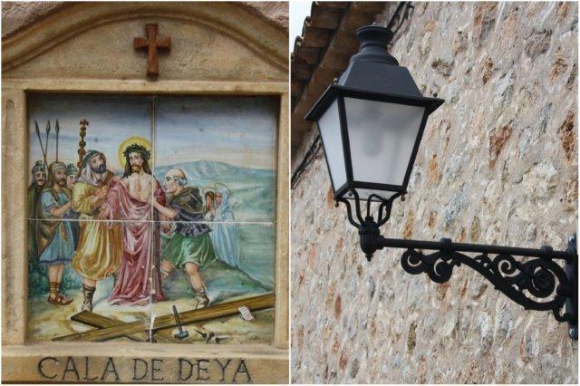 Azulejos religiosos en Deia, Mallorca - Farola
