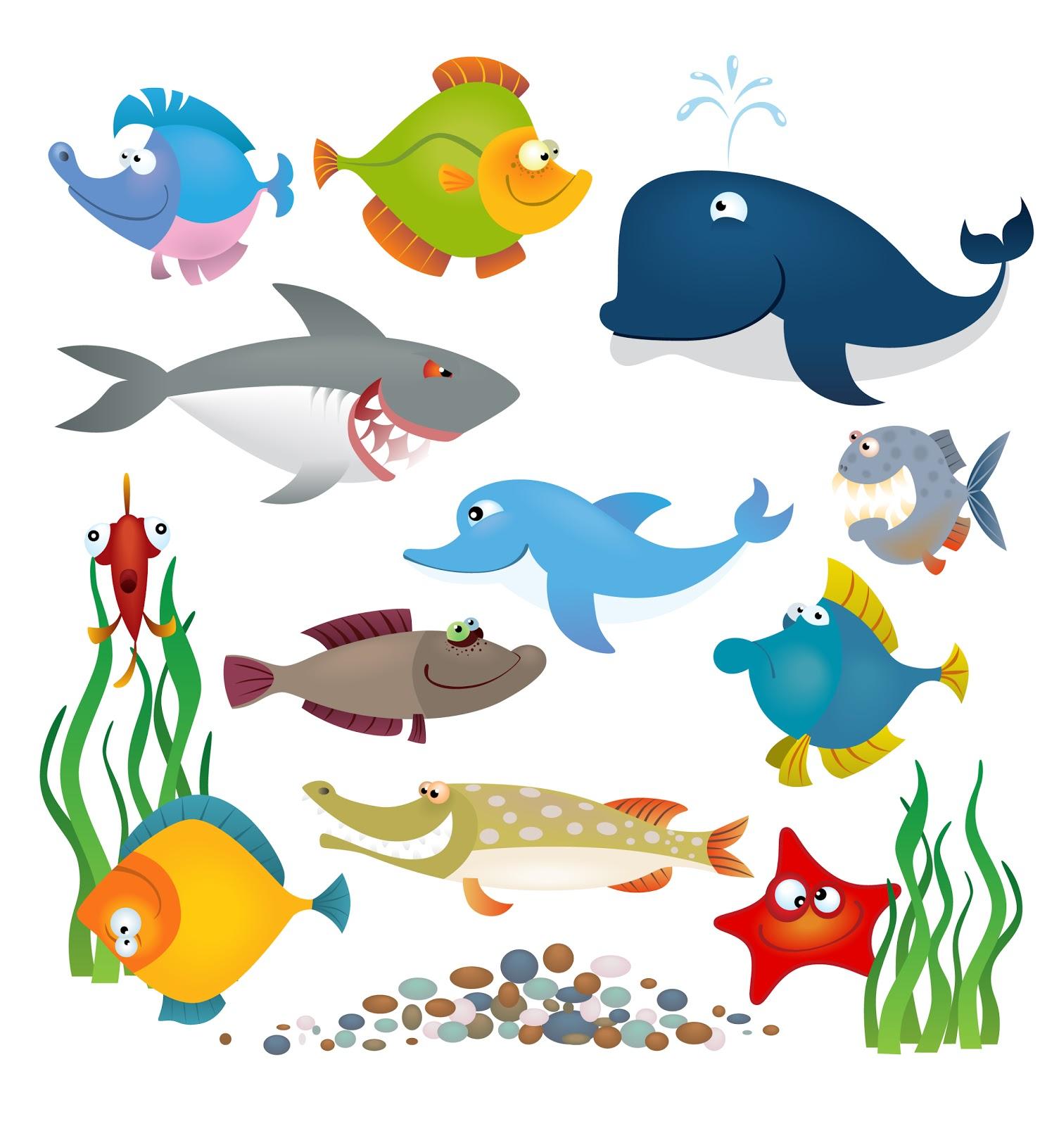 Free Vector Sea Animals