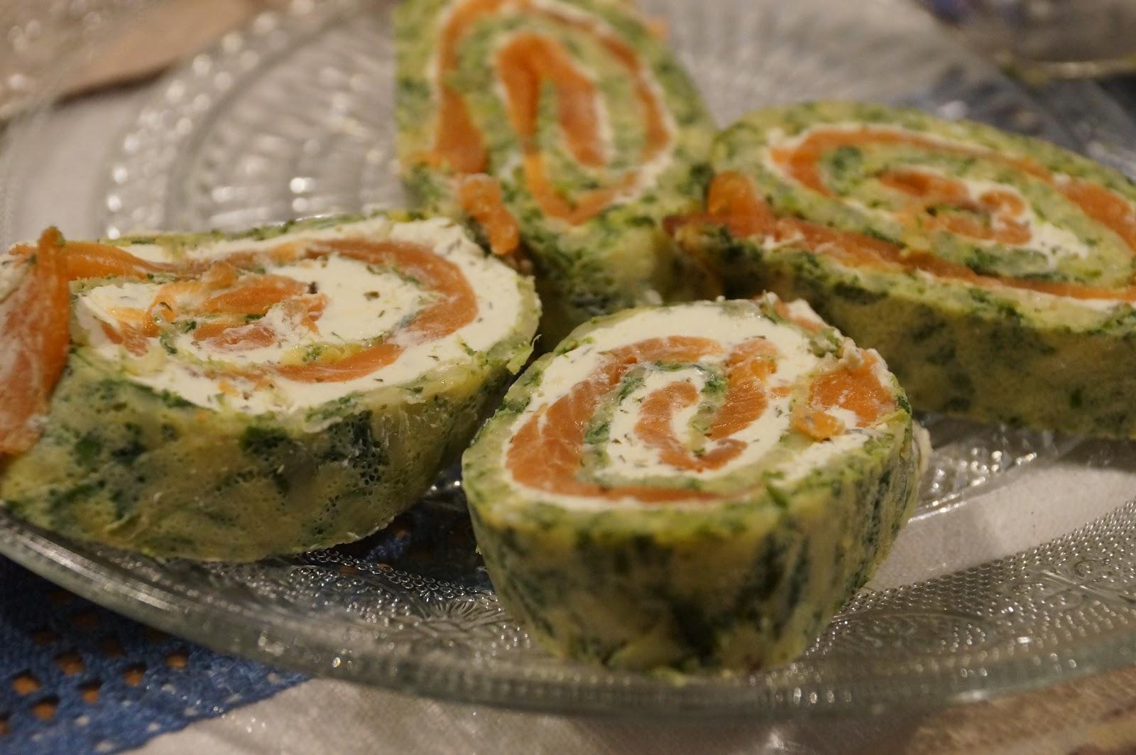 Lachsrolle mit Spinat und Frischkäse | Tante Svenja\'s Rezepte