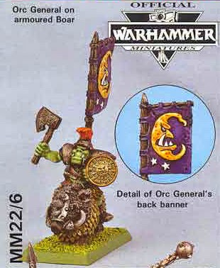 MM22 - Orc General on Armoured Boar