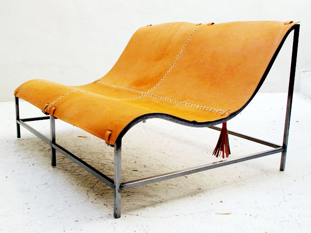 Leather and metal Montelargo seat