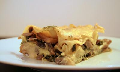 Λαζάνια με μανιτάρια και σέσκουλα, Lasagna with mushrooms and chard