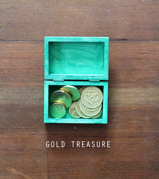 Gold leprechaun treasure.  Everyday Magic blog.