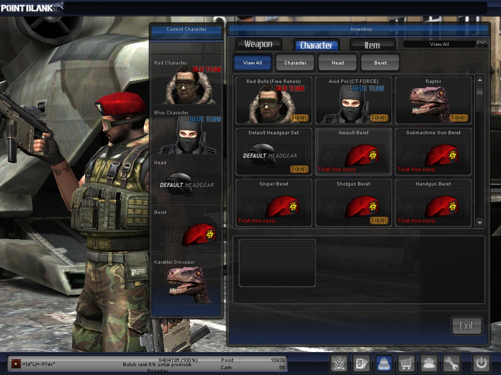 JUAL BELI CHAR POINT BLANK