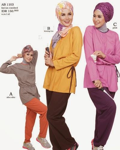 Desain Baju Senam Sporty Muslim terbaru 2015