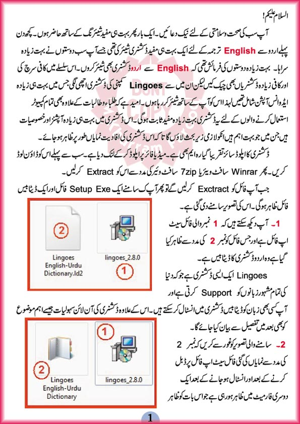 Pak Urdu IT: = Best English To Urdu Dictionary and Translator = Mediafire Link