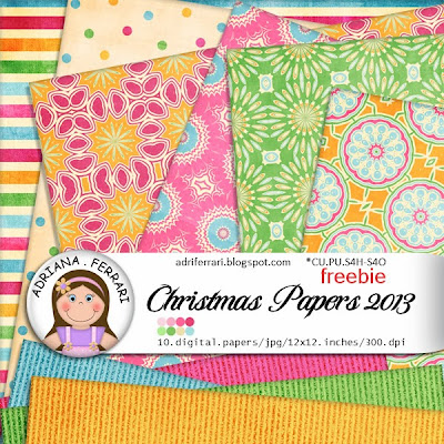 FREEBIE!!!!!  Christmas Papers 2013 (CU/PU)