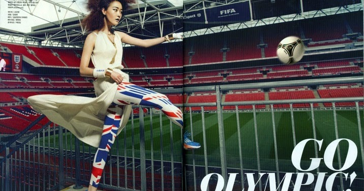 "The Terrier and Lobster: ""Go Olympic"": Hyoni Kang in London by Kang Hyea Won for Vogue Korea"
